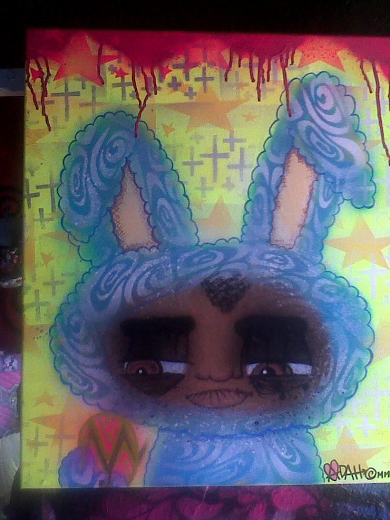 What the hell is wrong with me! Im painting bunnies!