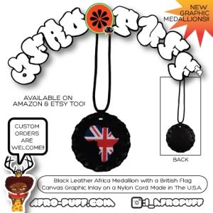 Afro-British Medallion in Black