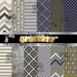 AfroPuff™ Digital Scrapbook Paper Packs Available Now!